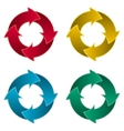 Ring of four arrows Colorful arrow circle vector image vector image