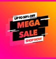 sale banner template design with colorful gradient vector image vector image