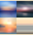 sea summer sky blurred background set vector image