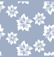 seamless pattern with abstract blue flowers vector image vector image