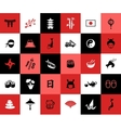 Set of flat design Japanese icons vector image