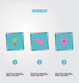 set of infant icons flat style symbols with body vector image