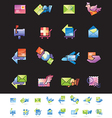 Shipping and Mail Delivery Icons set vector image vector image