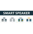 smart speaker icon set premium symbol in vector image vector image