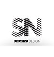 sn s n lines letter design with creative elegant vector image vector image