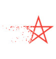 star pentagram disappearing pixel icon vector image vector image