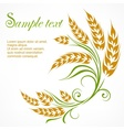 Stylized wheat pattern text vector image vector image