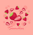 summer strawberry fruit vector image