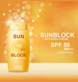 sun protection cosmetic product design vector image