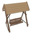 swing bench garden furniture park outdoor porch vector image