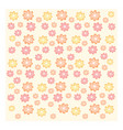 texture of yellow orange and pink flowers on pale vector image vector image
