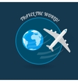 Time to travel modern flat style plane vector image vector image