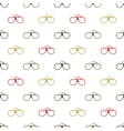 Variegated glasses on white background vector image
