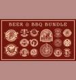 vintage food badges bundle vector image vector image
