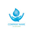 water care logo vector image