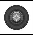 wheel of car vector image vector image