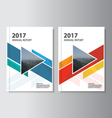 Colorful annual report Leaflet Brochure template vector image