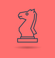 isolated linear icon of chess knight vector image