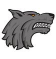 Logo wolf vector image