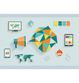 Set of flat design icons Can be used for web vector image