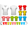 Collection of various soccer jerseys The T-shirt vector image