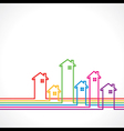 Real Estate bakground for sale property concept vector image