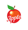Red apple with caption vector image