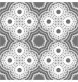 seamless ornate geometric pattern vector image