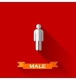 a male sign in flat design style with long shadows vector image