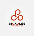 abstract bicycle logo template bike shop vector image