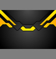 abstract black yellow hi-tech corporate background vector image vector image
