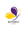 abstract bright butterfly sign design modern vector image vector image
