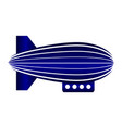 airship icon on white vector image