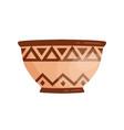 ancient grecian clay bowl antique greek handmade vector image vector image