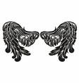angel wings vector image vector image