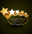 beautiful premium golden badge design with stars vector image vector image
