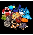 Big set of stuff from toys to clothes vector image