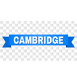 blue tape with cambridge title vector image vector image
