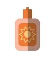 cartoon sun blocker cream protection solar beach vector image