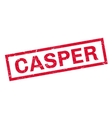 Casper rubber stamp vector image vector image