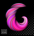 color paint background abstract 3d wave vector image vector image