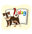 Cute dog and a book vector image