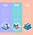 data cloud coding and administration posters vector image vector image