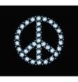 Diamond Peace Symbol vector image vector image