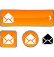 e-mail button set vector image vector image