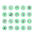 elderly care flat line icons nursing home vector image vector image