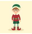 Elf Christmas Glasses Boy vector image vector image