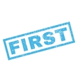First Rubber Stamp vector image vector image