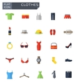 Flat clothes icons set
