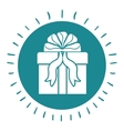 gift box with ribbon isolated icon design vector image